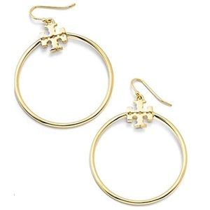 Tory Burch Stacked T Logo Hoops